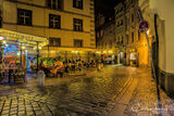 Prague, Czech Republic, old city, night, cafe, diners