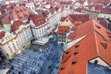Prague, old town square, Czech Republic, rooftop,  old town hall, astronomical clock