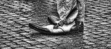 Rome, Italy, street performer, happy, feet