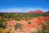 Sedona, Arizona, vista, digital painting, landscape