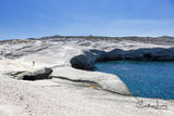 Sarakiniko, Milos, Greece, Aegean, beach, moonscape, landscape