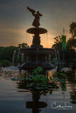 Manhattan, Central Park, New York, Angel of the Waters, fountain, Bethesda Terrace, sunrise
