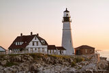 Portland, Maine, Portland Head, lighthouse, sunrise