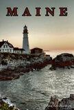 Portland, Maine, Portland Head, Lighthouse, travel poster