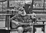 New Orleans, Louisiana, Jackson Square, French Quarter, street musician
