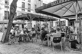 Barcelona, Spain, street scene, outdoor dining