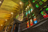 Basilica de la Sagrada Familia, Barcelona, Spain, architect, Antoni Gaudi, interior