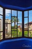 Parc Guell, Barcelona, Spain, Anton Gaudi, Garcia district, La Salut, Mediterranean Sea