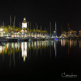 Spain, Malaga, Costa Del Sol, marina, lighthouse