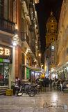 Malaga, Spain, Pablo Picasso, Solomon Ibn Gabirol, Antonio Banderas, night, cathedral