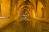 Seville, Spainl, Real Alcazar, bath, reflection, palace, Baths of Lady María de Padilla