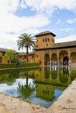 Alhambra, Granada, Spain, palace, fortress, reflecting pool, mirror