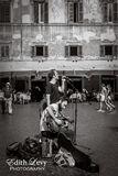 Trastevere, Rome, Italy, street musician