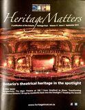 Ontario Heritage Trust Magazine Cover