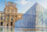 Louvre Museum; Paris, France, Pyramid; sunset, art