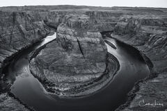 Horseshoe Bend in BW