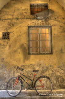 Florence, Italy, bicycle, red
