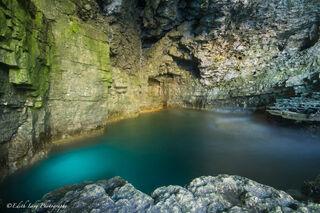 Tobermory, Ontario, grotto, blue, green