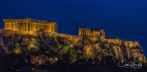 greece, Athens, parthenon, acropolis, moonlight, Daphne Du Maurier, sunset, blue hour