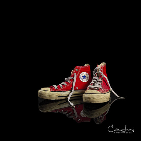 Converse, Chuck Tayler, All star, red, high top, classic, studio photography