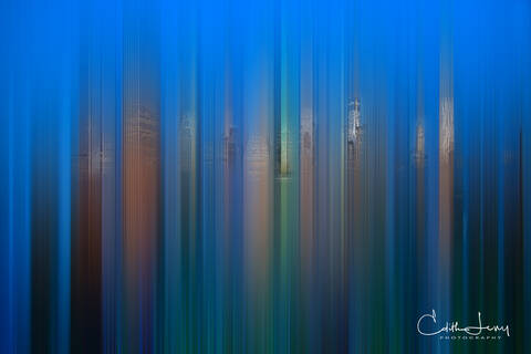 Manhattan, New York, skyline, Brooklyn Height Promenade, sunset