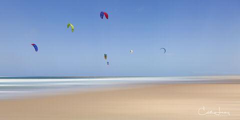 Tel Aviv, Israel, kite, surfing, summer, spring, flight, water
