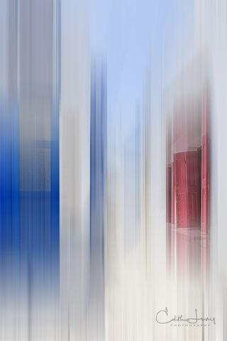 Milos, Plaka, Greece, windows, doors, blue, red