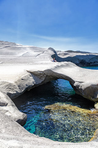 Sarakiniko, Milos, Greece, Aegean, beach, moonscape,