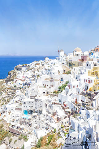 Oia, Santorini, Greece, caldera, white washed