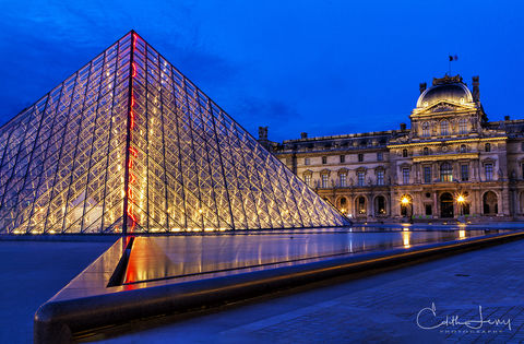Blue Hour at the Louvre II