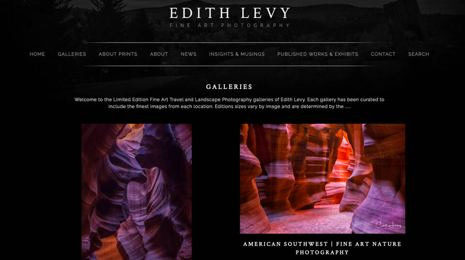 It's Finally Here...Welcome to the new home of Edith Levy Fine Art Photography