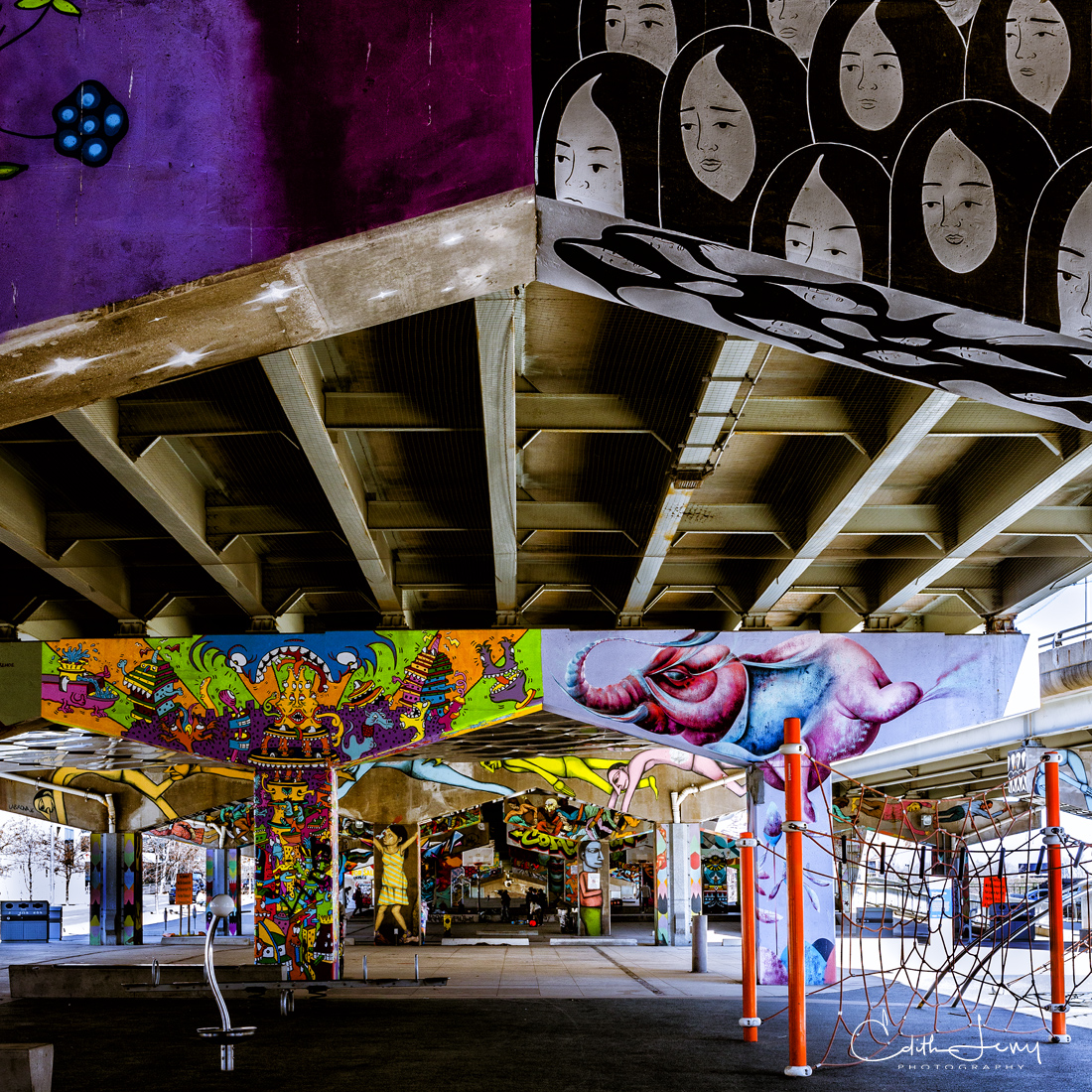 Underpass Park located in the east end of downtown Toronto officially opened in 2012 and turned a seedy and undesirable area...