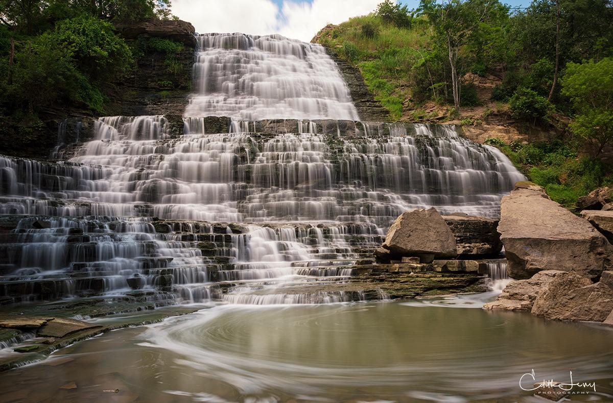 Albion Falls, Ontario, water, long exposure