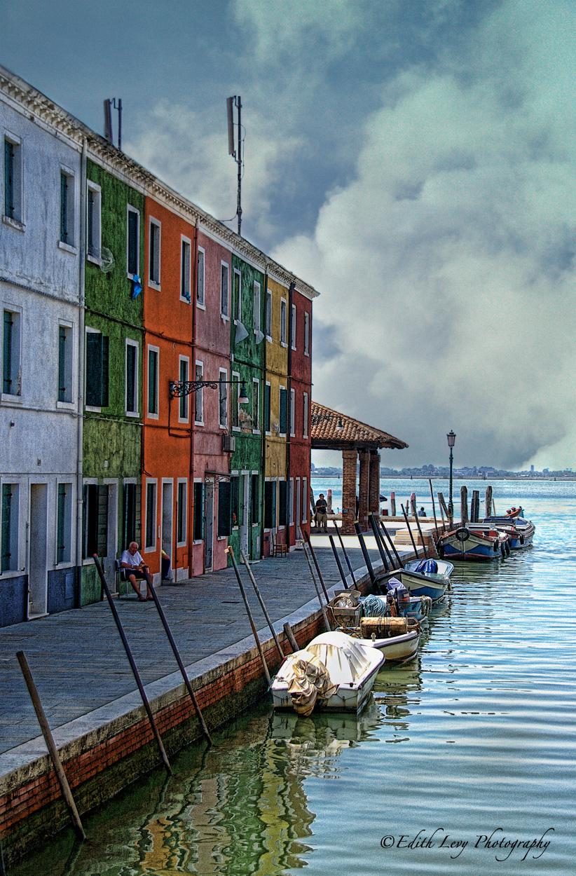 Burano, Italy, colours, photo