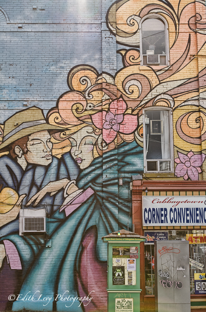 Toronto, Ontario, Cabbagetown, convenience store, wall mural, photo