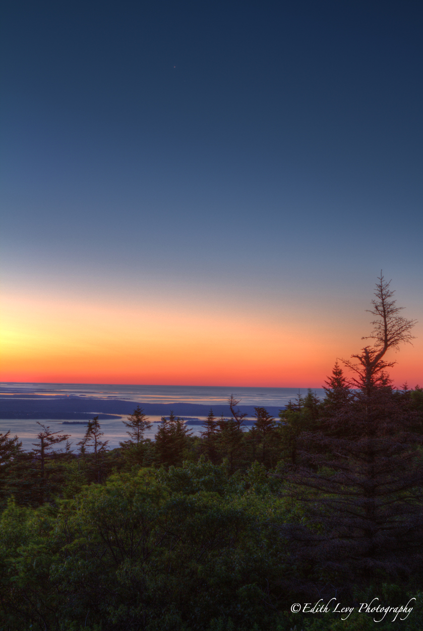 Cadillac Mountain is the first place to see the sunrise on the continental United States.
