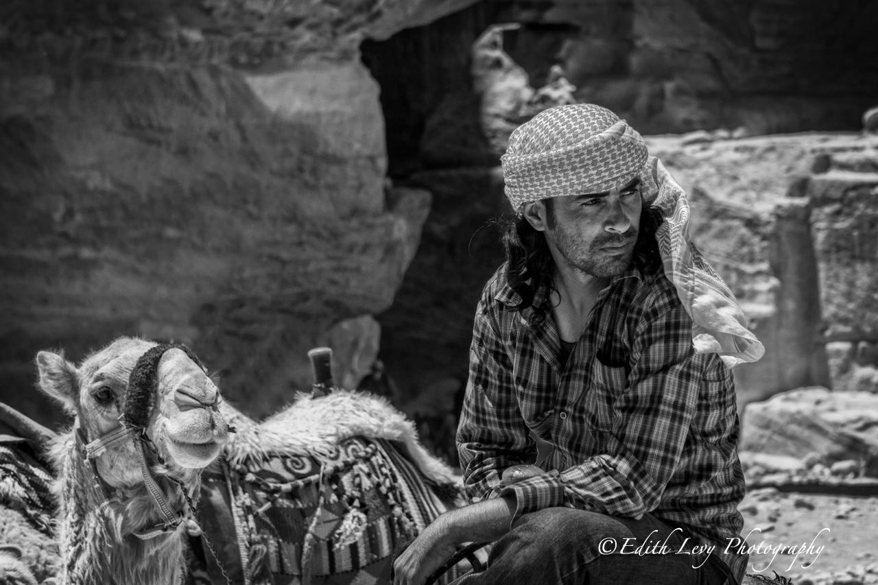 Petra, Jordan, camel, handler, tourist, , photo