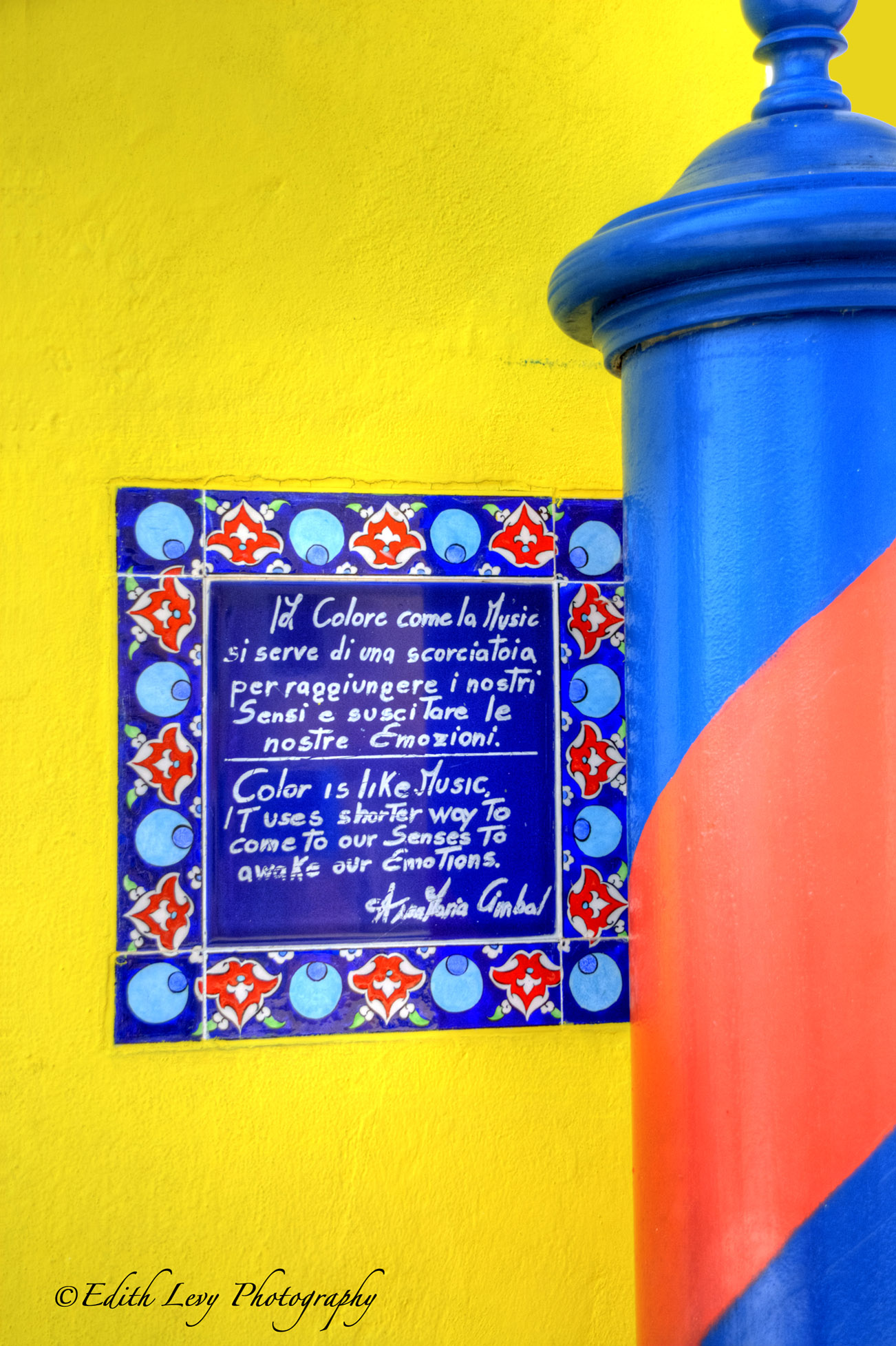 Burano, Italy, colours, yellow, red, blue