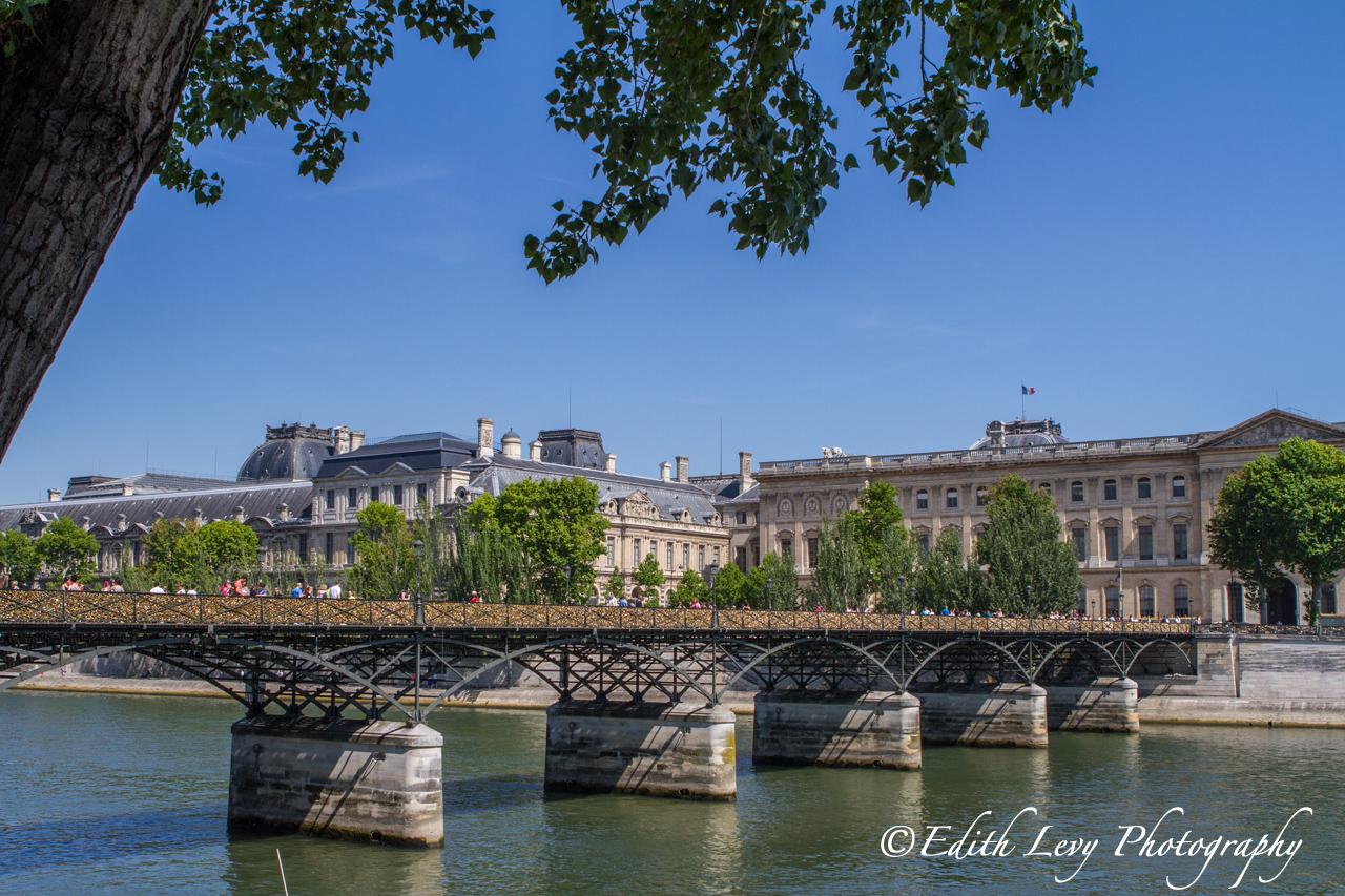 The Pont des Arts is a pedestrian bridge that cross the River Seine in Paris.