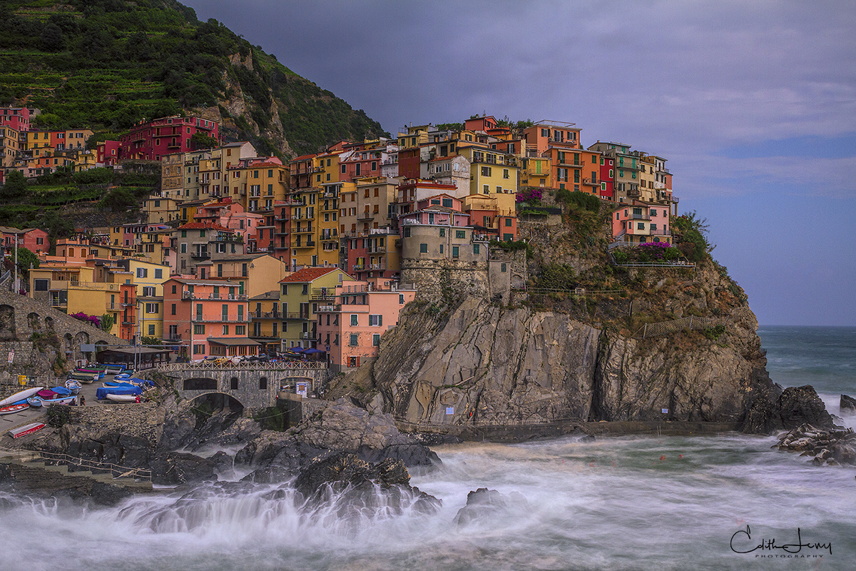 Cinque Terre, Liguria, Mediterranean, village, Manarola, sea, piazza, harbour, coast, Italian Riviera