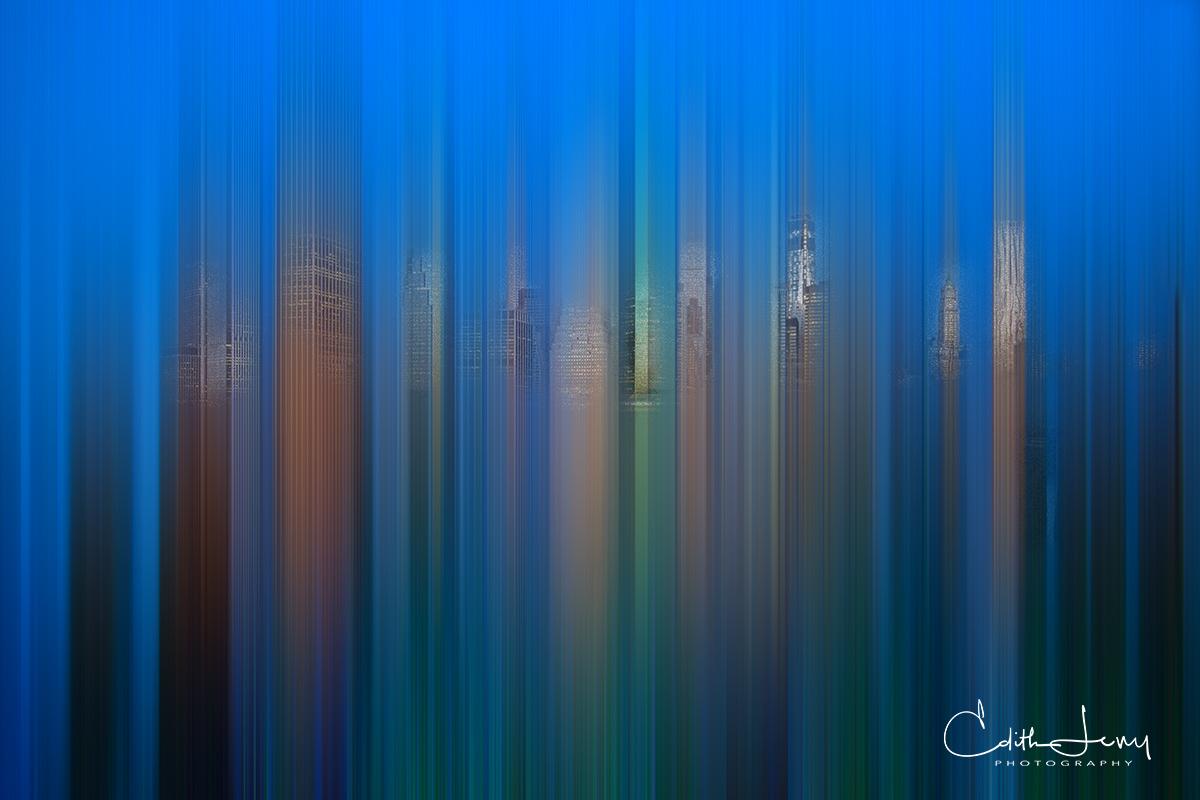 Manhattan, New York, skyline, Brooklyn Height Promenade, sunset, photo