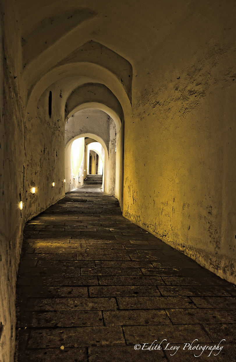 Florence, Italy, alley, lights