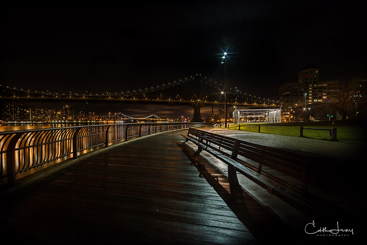 Brooklyn, New York, DUMBO, Manhattan bridge, Jane's Carousel, Brooklyn Bridge Park, photo