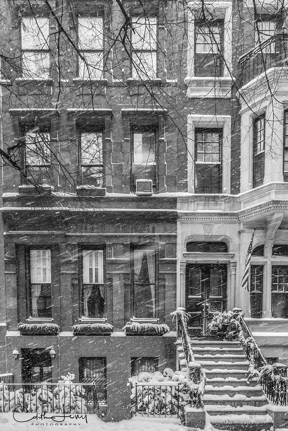Manhattan, New York, Upper West Side, brownstone, photo