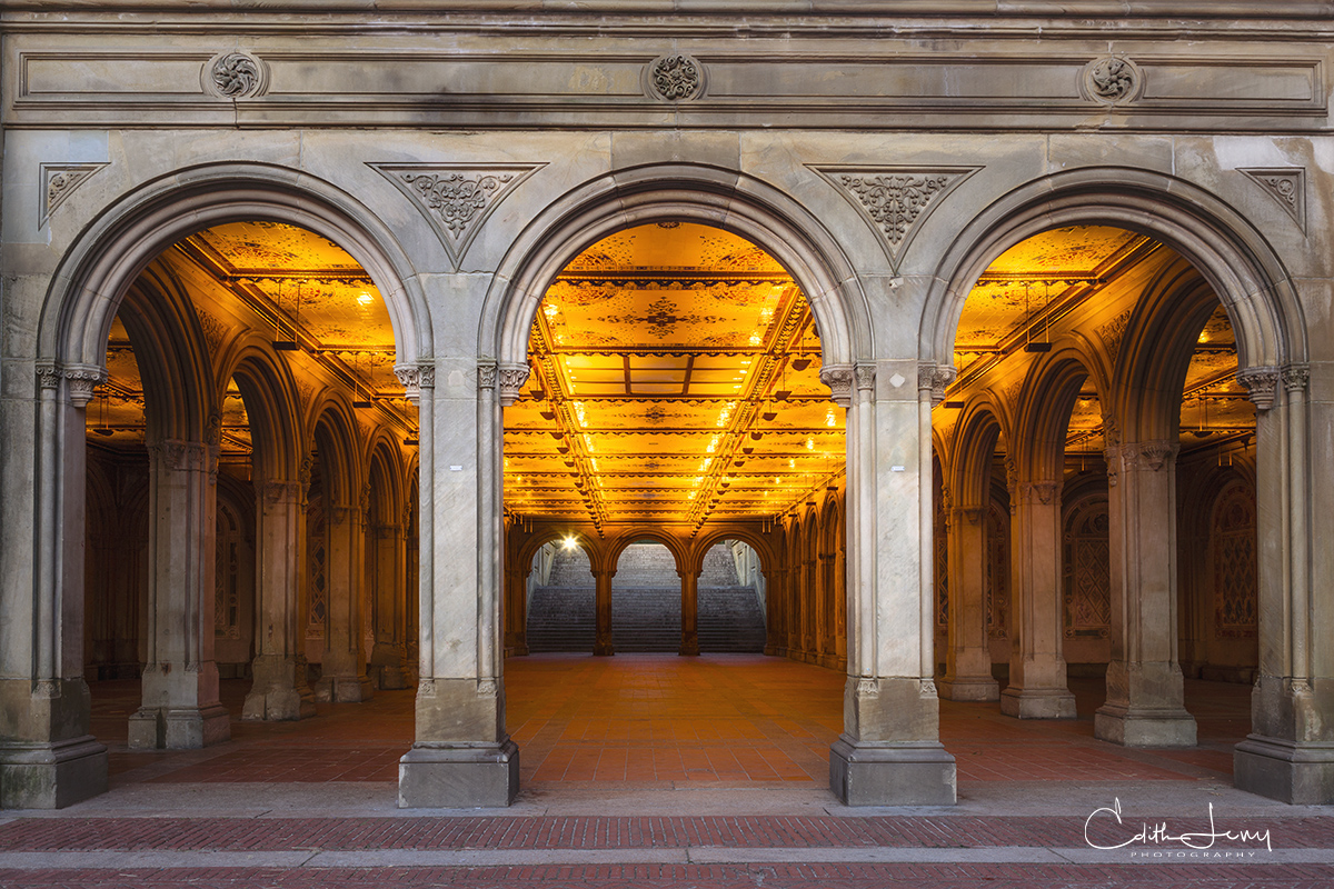 Limited Edition of 50 There's a beautiful gem deep within Central Park called Bethesda Terrace and Fountain. The terrace was...