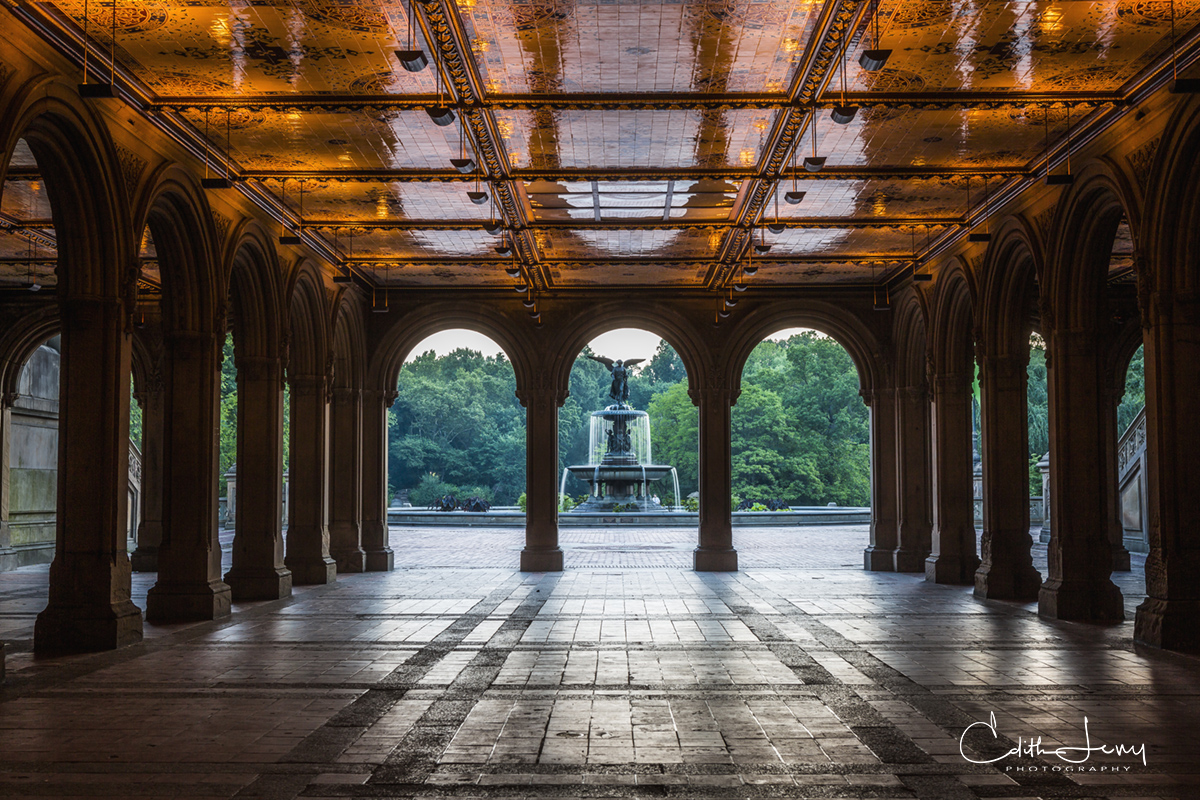Bethesda Terrace, Central Park, Manhattan, New York, Angel of the Water, photo