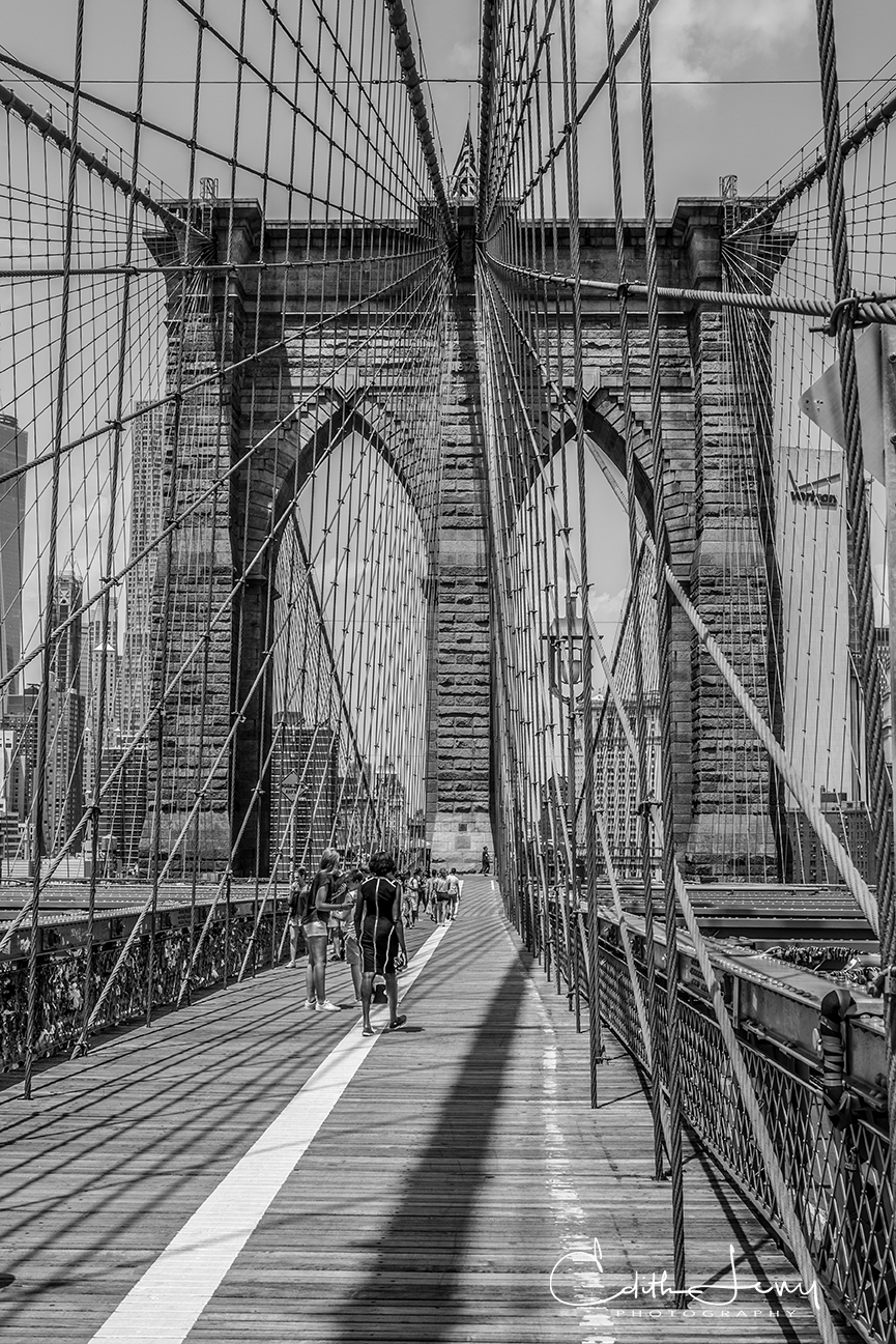 Brooklyn Bridge, Manhattan, New York, crossing, photo