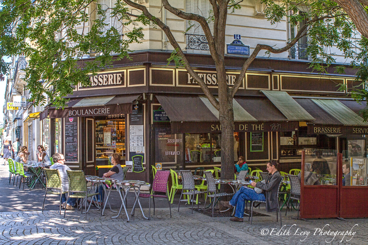 A very familiar sight in Paris and most of France is the sidewalk cafe, bistro or patisserie. People sipping coffee, having a...