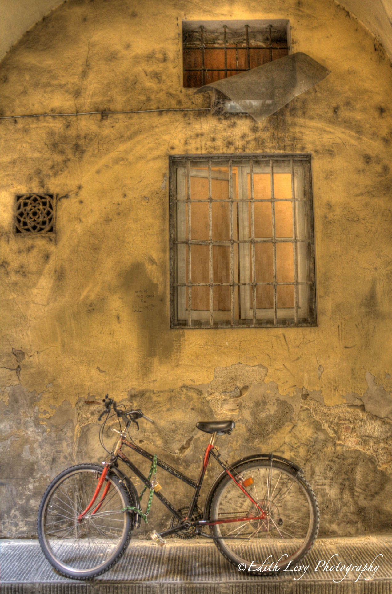 Florence, Italy, bicycle, red, wall, building, window