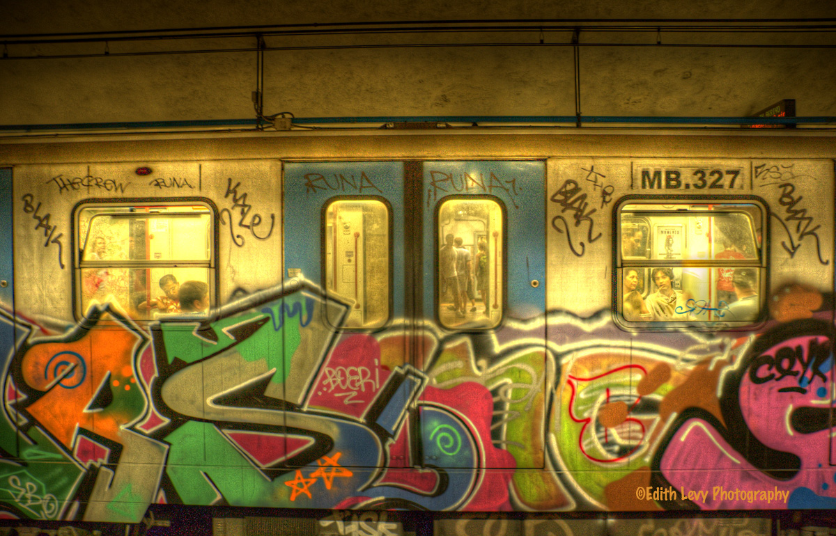 Rome, italy, subway, photo
